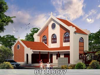 bản vẽ nhà thờ họ 2 tầng