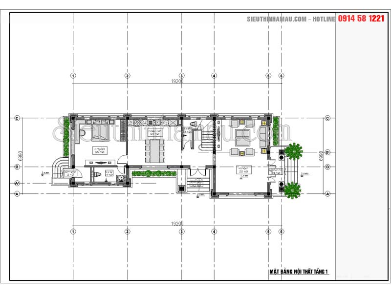 kiến trúc nhà mặt tiền 7m