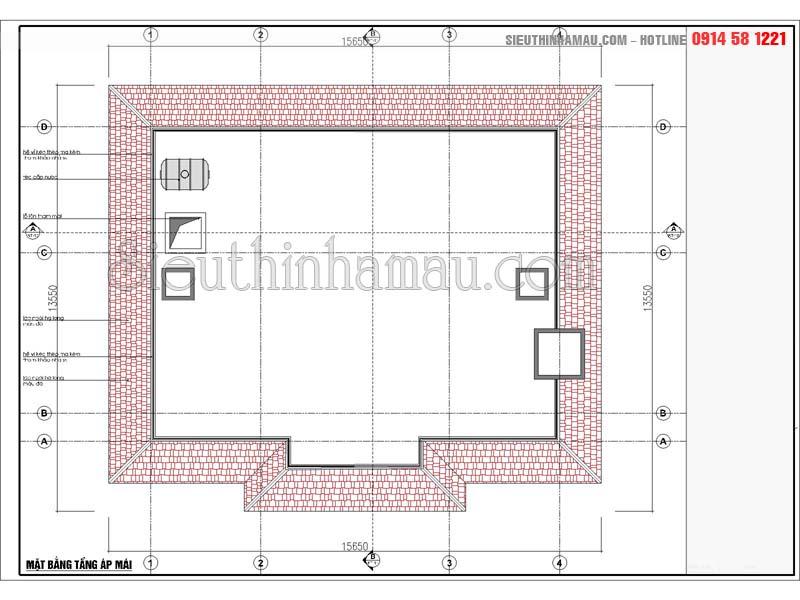 nhà vuông 3 phòng ngủ