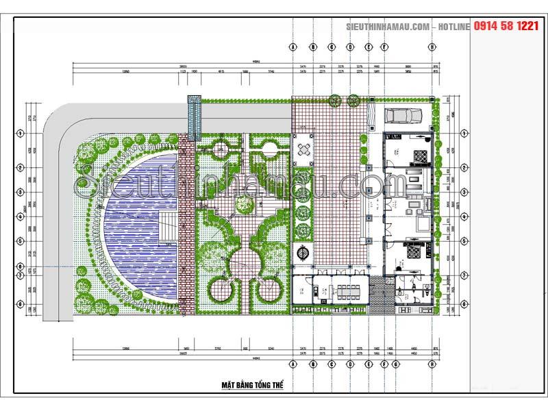 mẫu nhà 3 gian mái ngói