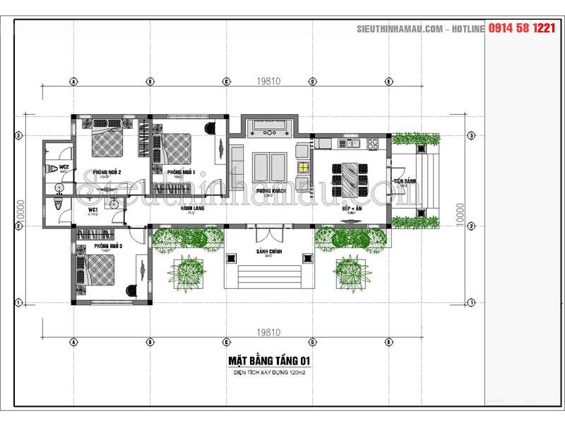 thiết kế nhà vườn 120m2