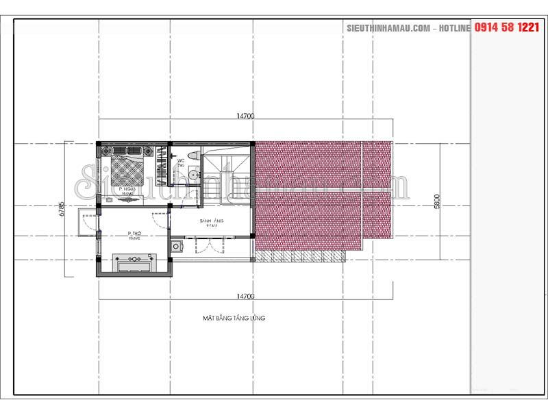mẫu nhà cấp 4 7x15m