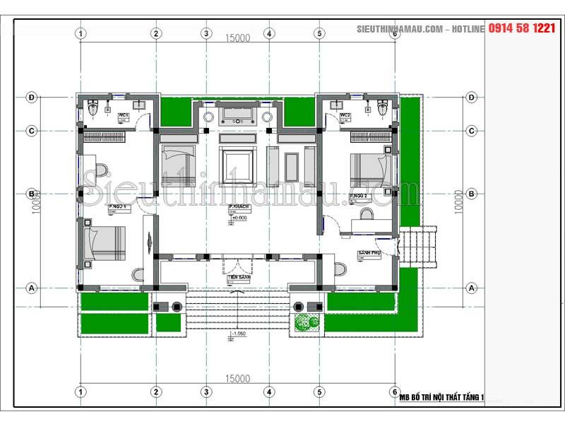 Nhà cấp 4 hình chữ nhật