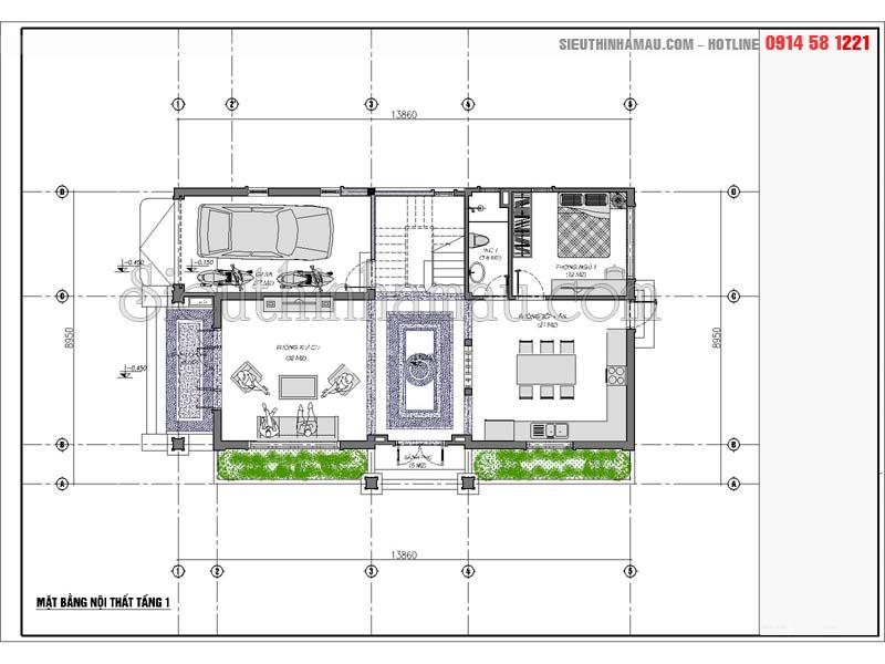 Nhà đẹp 2 tầng 8x15m