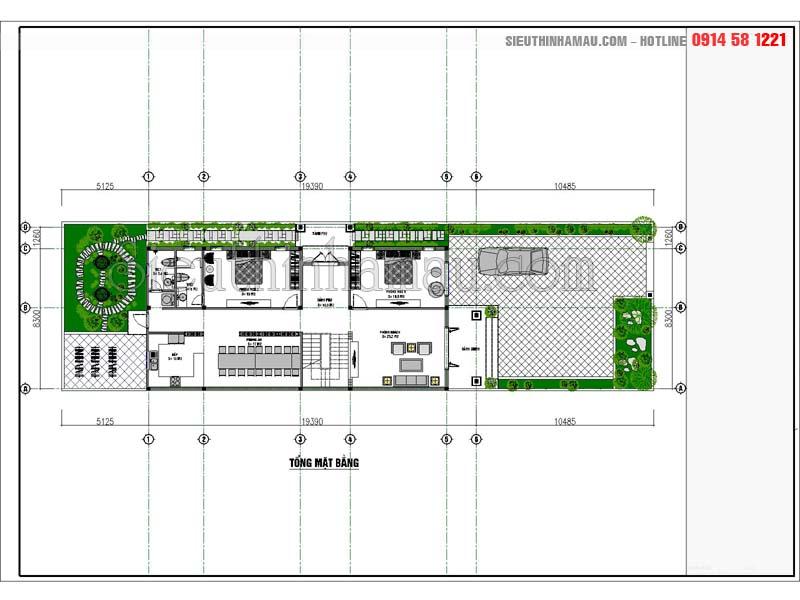 Thiết kế nhà ống cấp 4 2 phòng ngủ