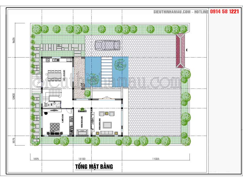 thiết kế nhà 9x15m
