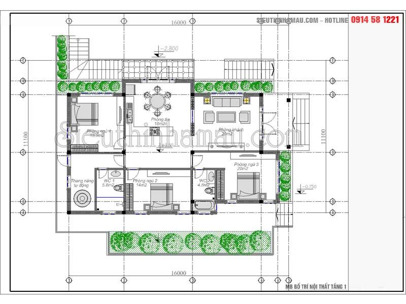 thiết kế nhà cấp 4 10x15m