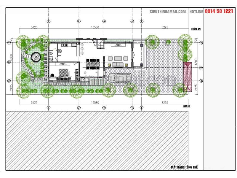 Thiết kế nhà cấp 4 gác lửng 3 phòng ngủ đẹp