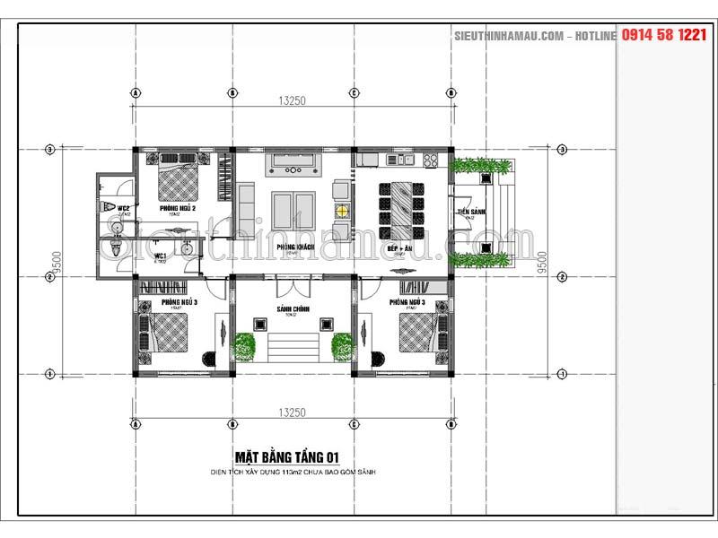 thiết kế nhà đẹp 110m2
