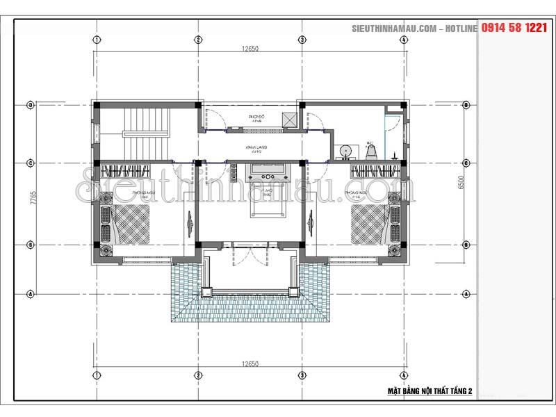 mẫu nhà đẹp 2 tầng mặt tiền 7m
