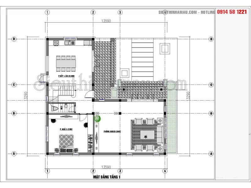 Nhà 2 tầng mái thái 100m2