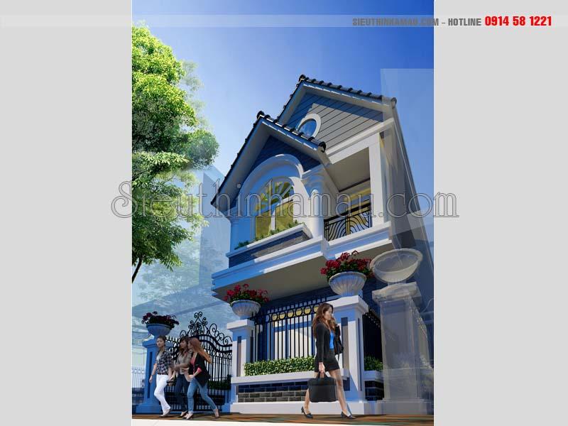 Nhà đẹp 2 tầng 5x18m