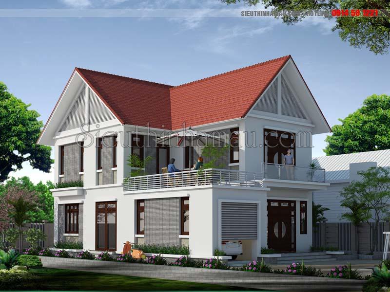 Nhà đẹp 2 tầng 8x13m