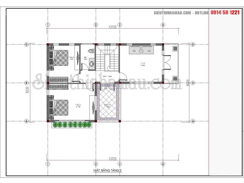 Nhà đẹp 2 tầng 9x12m