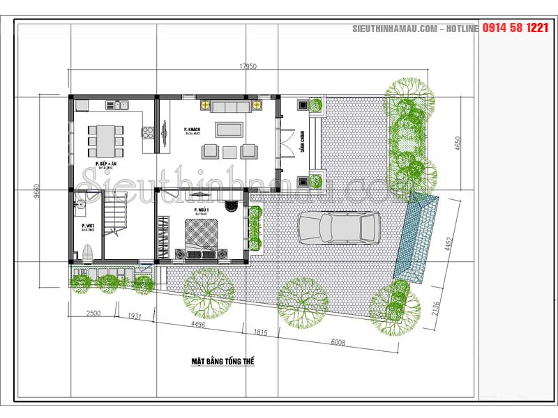 Nhà mái thái 80m2