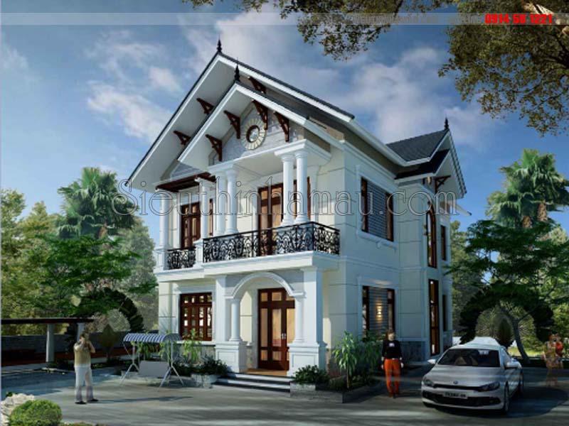 Thiết kế nhà mặt tiền 8.5m