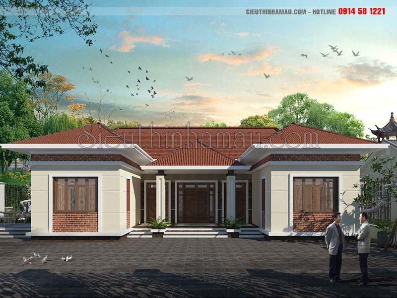 Thiết kế nhà 1 tầng có phòng thờ