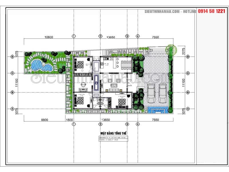mẫu thiết kế nhà 1 tầng có phòng thờ