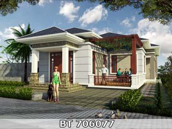 Thiết kế nhà 10x18m diện tích 160m2 1 tầng mái thái đơn giản mà đẹp