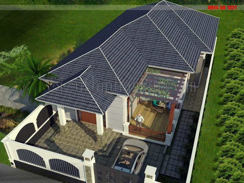 Mẫu thiết kế nhà 10x18m cấp 4 đơn giản ở quê