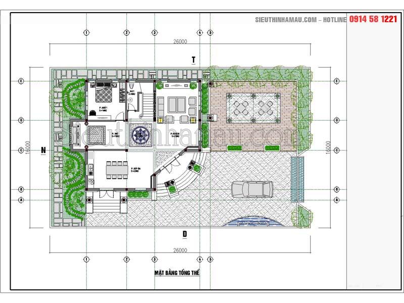 thiết kế nhà 12x15m