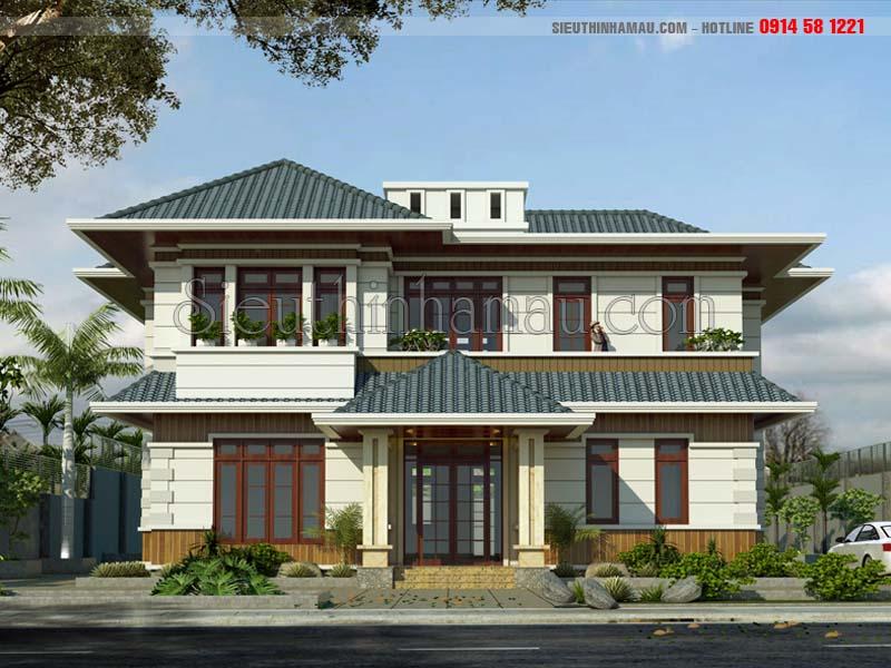 thiết kế nhà 2 tầng 160m2