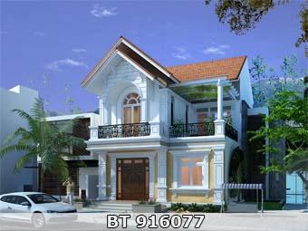thiết kế nhà 2 tầng diện tích 9x11m