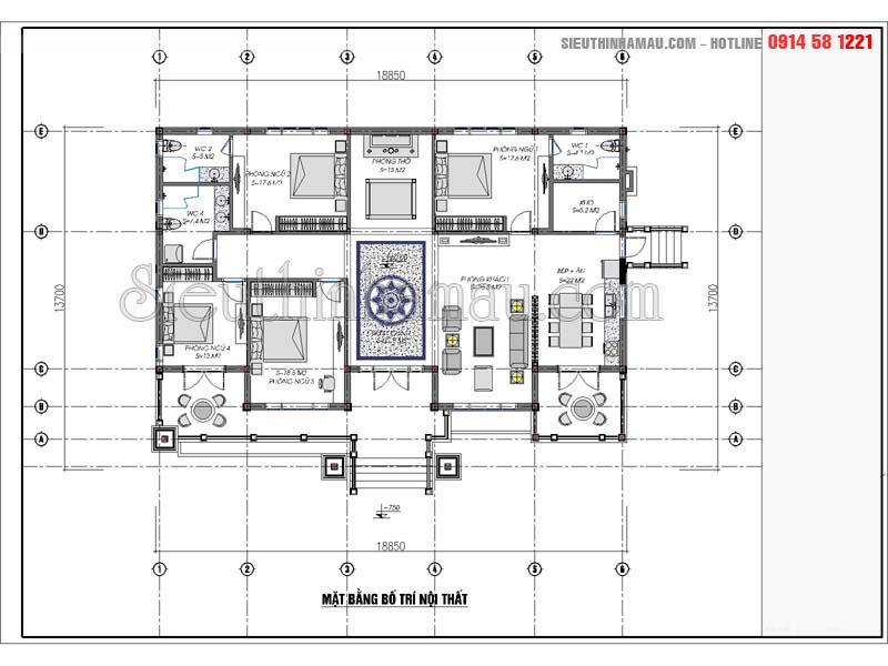 thiết kế nhà 220m2