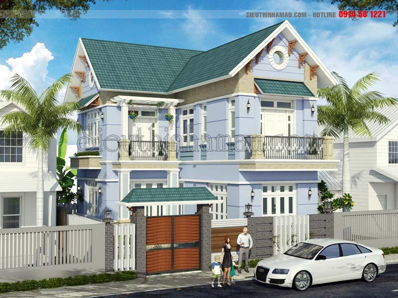 Thiết kế nhà 70m2 3 phòng ngủ