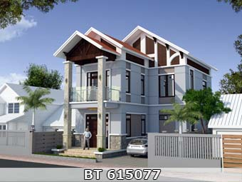 Thiết kế nhà 8x13m 2 tầng đẹp