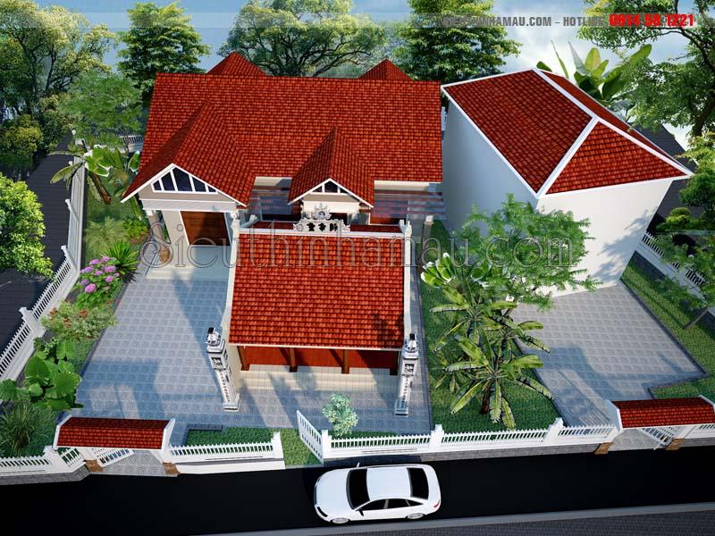 thiết kế nhà cấp 4 truyền thống