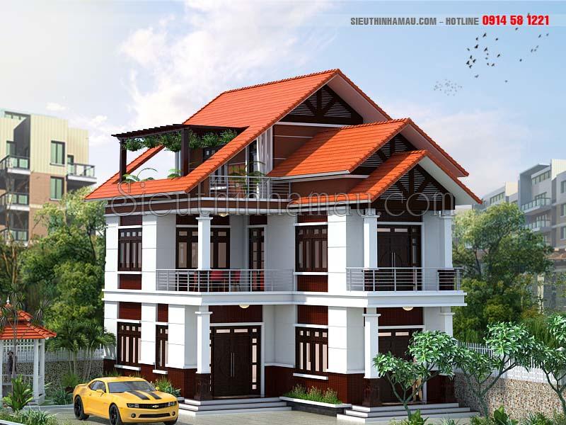 Thiết kế nhà đẹp 8x15m