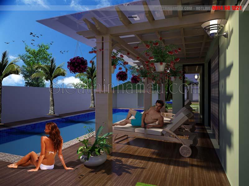 tư vấn thiết kế nhà vườn nghỉ dưỡng 1 tầng