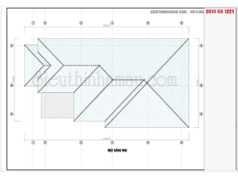 Thiết kế nhà 10x18m cấp 4 mái thái đơn giản mà đẹp