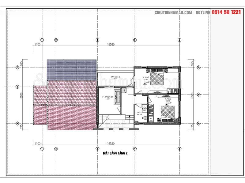 Nhà 1 tầng 7x15m có gác lửng đẹp