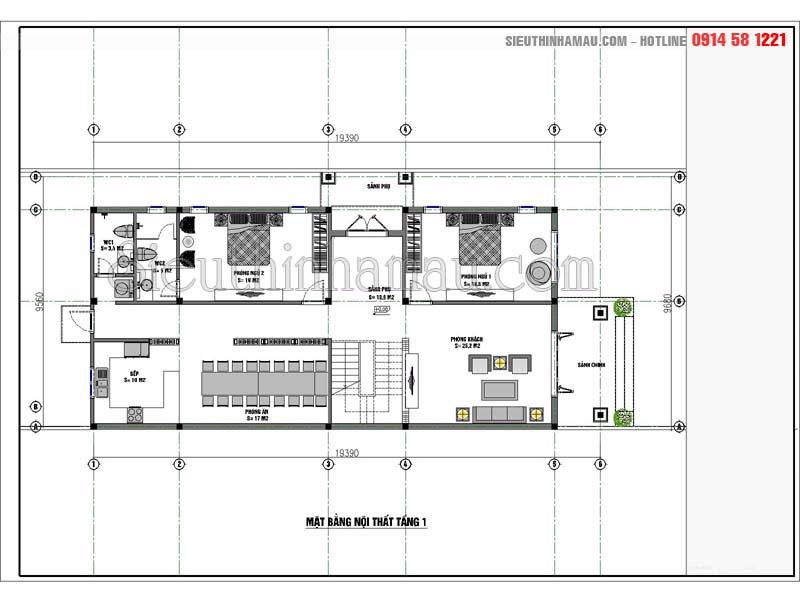 nhà ống cấp 4 2 phòng ngủ