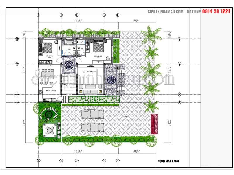 bản vẽ thiết kế nhà 2 tầng hoàn chỉnh