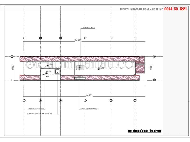 Bản vẽ thiết kế nhà 5x18m