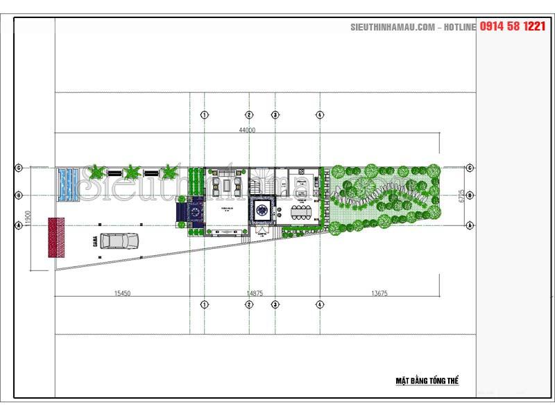 Biệt thự 2 tầng 8x15m