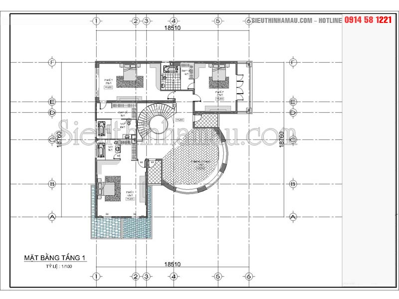Biệt thự 3 tầng 300m2
