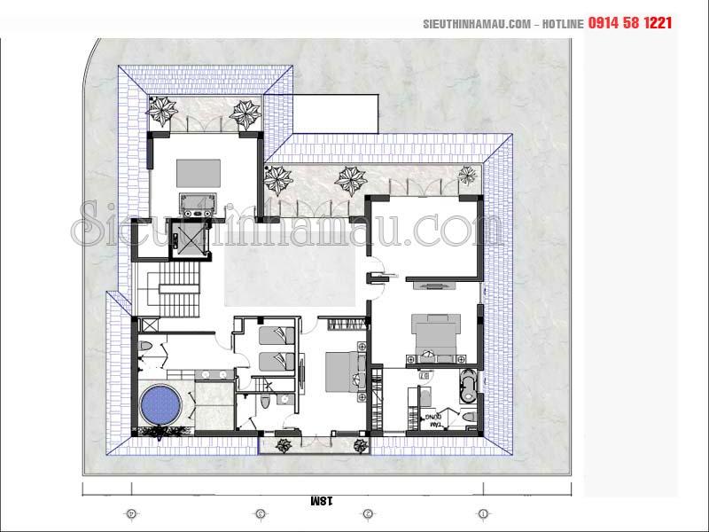 Biệt thự 3 tầng có bể bơi