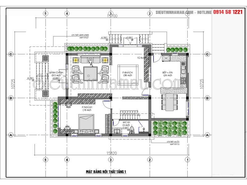 Thiết kế nhà 110m2
