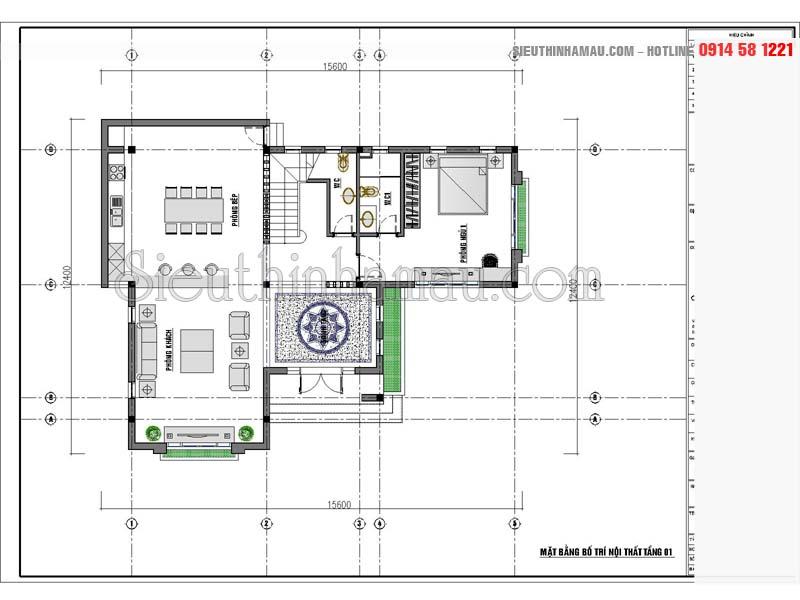 Thiết kế nhà 3 tầng mái thái