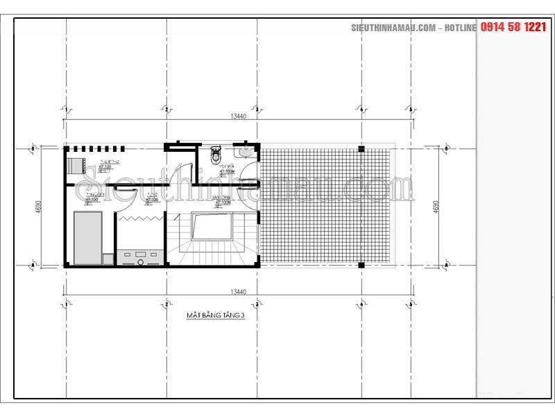 Thiết kế nhà 5x13.5 đẹp