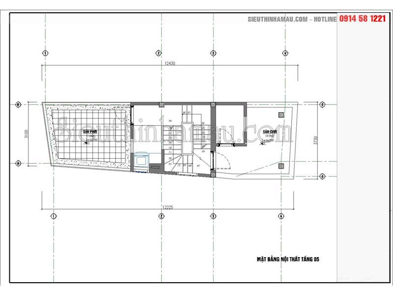mẫu nhà phố 4x12m