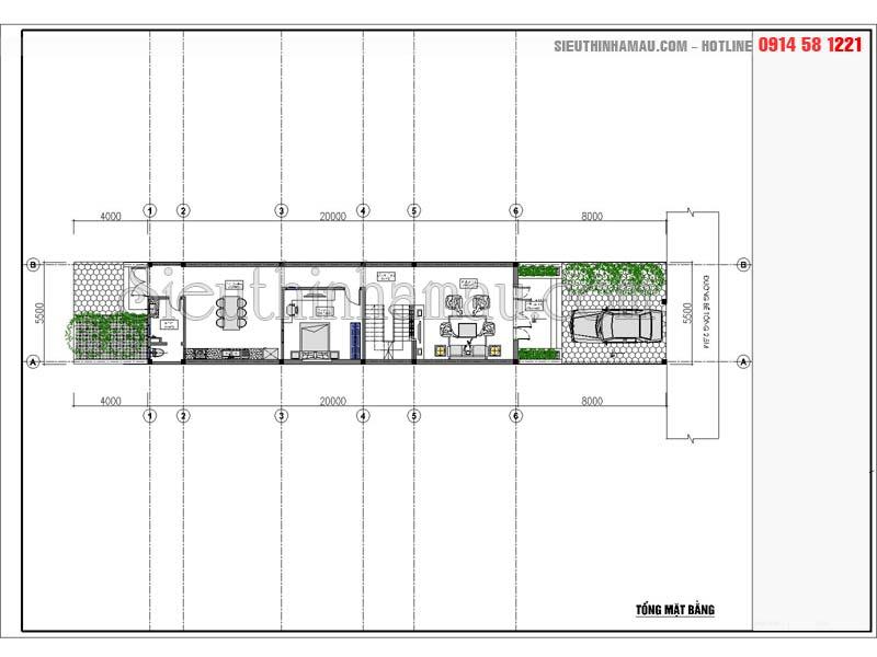 Tư vấn mẫu nhà phố 5x20m 3 tầng đẹp