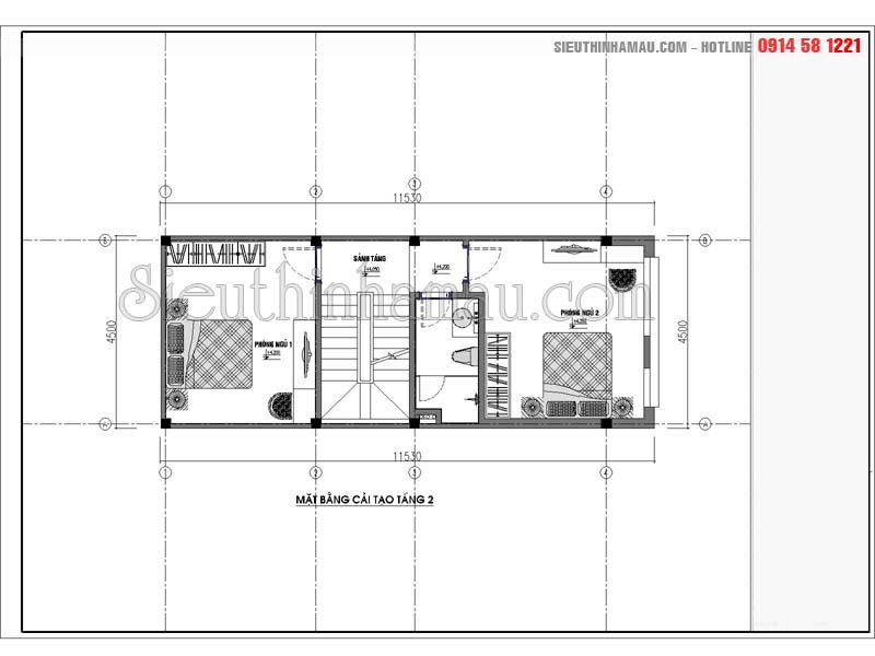 Mẫu thiết kế nhà phố 50m2 4 tầng hiện đại