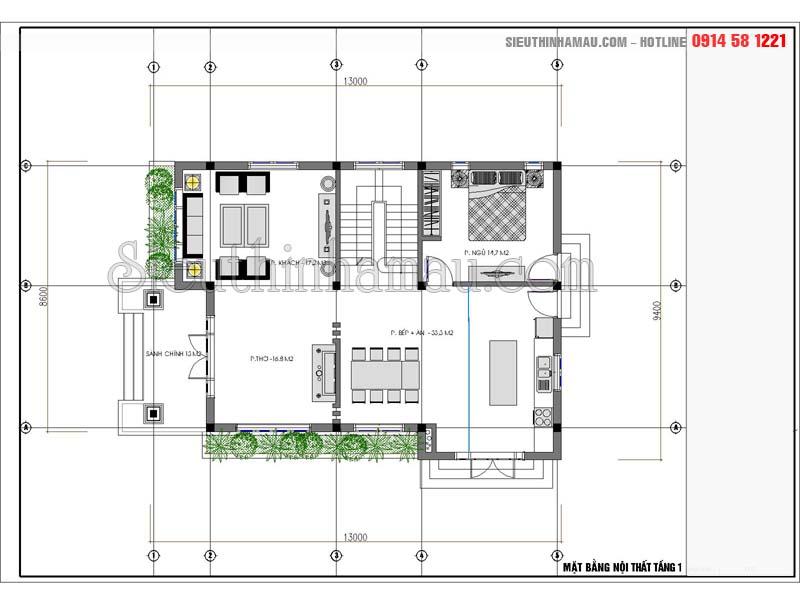 Nhà 2 lầu 4 phòng ngủ