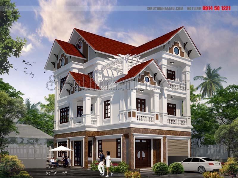Nhà 3 tầng bán cổ điển