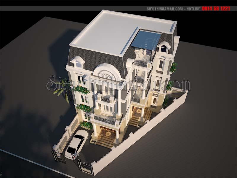 Nhà biệt thự kiểu pháp cổ